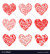 valentine hearts red for your design royalty free vector