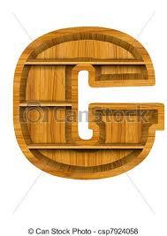 stock illustration of wooden shelf alphabet letter g wooden