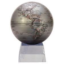 Small Desk Globe Mova Silver Earth Desk Globe