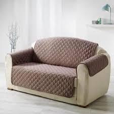 fauteuil et canapé housse de fauteuil canapé marron achat vente pas cher cdiscount