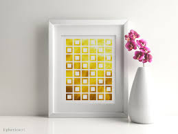 geometric wall art yellow print yellow art bright mustard decor