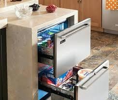 under cabinet fridge and freezer fancy freezer drawers enjoy the flexibility of two temperature zones