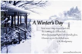 a winter day poem of the week road to avonlea sullivan