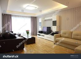 modern livingroom inside flat modern stock photo 99256208