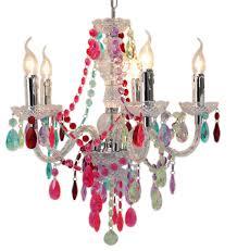 Multi Coloured Chandeliers Multi Coloured 5 Light Chandelier Ceiling Light Forever