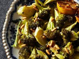 barefoot contessa roasted broccoli roasted broccoli with lemon and pine nuts recipe melissa rubel