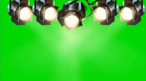 concert stage lights 3 green screen animation