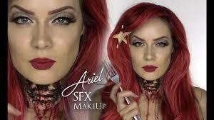 ariel ripped throat sfx makeup halloween disney the little