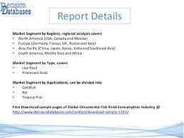 global ornamental fish feed consumption industry and 2021 forec