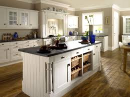 elegant farmhouse kitchen with l shape white kitchen cabinet and