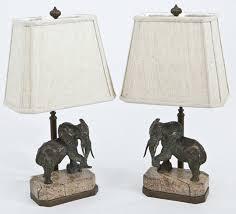 Maitland Smith Lamp Shades by Smith Bronze Elephant Lamps