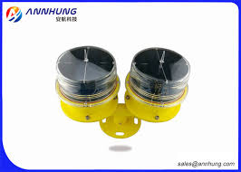 solar powered flashing yellow light solar aviation obstruction light on sales quality solar aviation