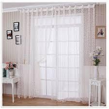 voilage fenetre chambre doux polyester blanc voile draperie panneau transparent fenêtre