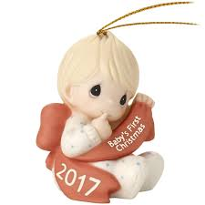 precious moments baby boy first christmas 2017 ornament