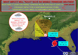 Tennessee Weather Map by The Weather Guy August 2012