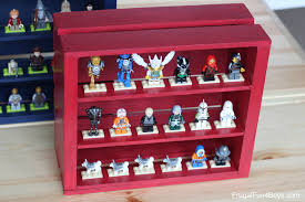 frugal home decorating ideas wooden crate lego minifigure display