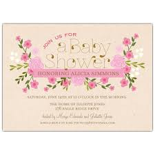 vintage pink floral baby shower invitations paperstyle