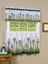 Curtains Birds Theme Birdhouse Curtains Ebay
