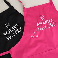 wedding gift hers uk personalised his and hers aprons chefs gettingpersonal co uk
