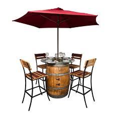 Wine Barrel Patio Table Sonoma Outdoor Patio Set Wine Barrel Furniture