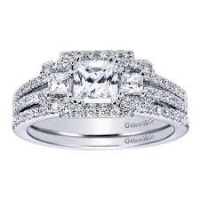 princess cut wedding set 2 15cttw 3 princess cut diamond engagement ring with pave