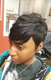 can you sew in extensions in a pixie hair cut short quickweave quickweave styles pinterest short hair