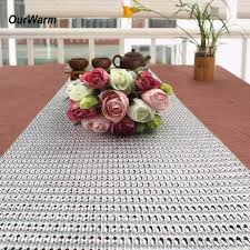 mesh ribbon table decorations aliexpress com buy ourwarm 5 yards 50 rows wedding table runner