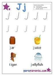 letter j worksheet for preschool go back u003e gallery for u003e things