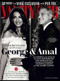 Vanity Fair Italiano Amal Alamuddin And George Clooney In Vanity Fair Italy Amal