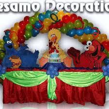 sesame decorations sesame table decor 1st birthday ideas