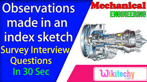 explain the observations made in an index sketch survey