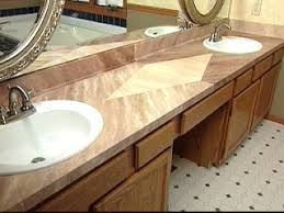 Bathroom Counter Top Ideas How To Give A Laminate Countertop A Faux Marble Finish Hgtv