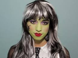 kid u0027s halloween makeup tutorial frankenstein u0027s daughter hgtv