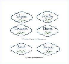 free herb plant labels for mason jars and pots the gardening cook