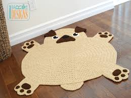 Monkey Rug For Nursery The Pugfect Pug Rug Pdf Crochet Pattern Irarott Inc