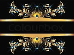 background with golden ornament for various design artwork stock