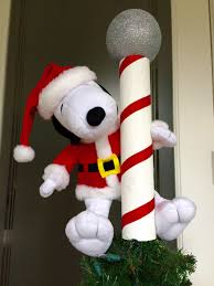 snoopy tree topper santa snoopy elf christmas tree north pole