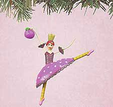 plum dancer ornament