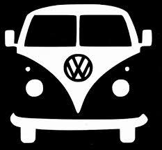 volkswagen vw bus camper white vinyl decal sticker unbranded vw