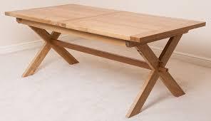 X Leg Dining Table Vermont Solid Oak Cross Legged Extending Dining Table 200 Cm