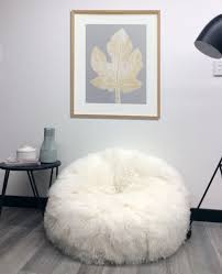 Big Bean Bag Chair by Furniture U0026 Rug Elegant And Comfy Sheepskin Beanbag Ideas