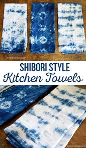 shibori style kitchen towels crafting towels and style
