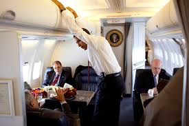 Air Force One Interior Free Public Domain Image President Barack Obama Talking With