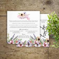 meadow flowers wedding invitations by gray starling designs