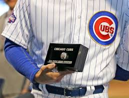 unnamed cubs scout puts official 2016 world series ring up for