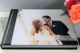 custom wedding photo album 11x14 horizontal acrylic cover