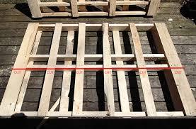diy easy wood pallet bed frame wonder forest