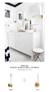 Kohler Purist Wall Sconce Kohler Purist Single Wall Sconce Copycatchic