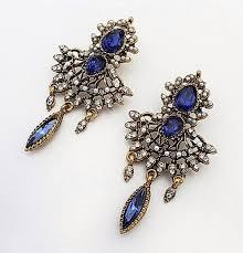 vintage earrings blue vintage earrings