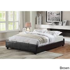 furniture of america miuralli leatherette queen size platform bed